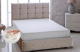 From £59 for a luxury Bonnell sprung memory foam mattress - choose single, double, small double or king size and save up to 75%