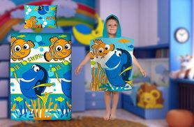 £4.99 instead of £14.99 (from Linen Ideas) for a Finding Nemo poncho towel, or £12.99 for a Finding Nemo duvet set - just keep swimming and save up to 67%