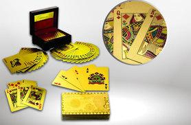 £8 instead of £21 (from Shop Directly) for a full poker deck of 24k gold-plated playing cards - save 68%