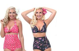 £8 instead of £29.99 (from EFMall) for a vintage style bikini - choose from four colours and save 73%