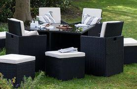 £579 instead of £1195 for an eight-seater cube rattan furniture set from Deals Direct - choose black, brown or grey and save 52% + DELIVERY IS INCLUDED!