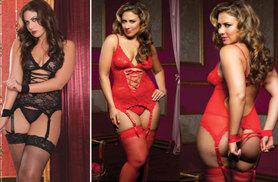 £5.99 instead of £24.99 (from EFMall) for a lace lingerie set – choose black or red and save 76%