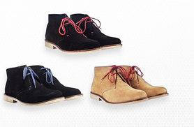 £24 instead of £140 for a pair of men's genuine suede desert boots - choose from three styles and save 83%