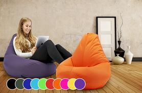 £24 instead of £89 for a highback beanbag - use inside or outside, choose from 11 colours and save 73%