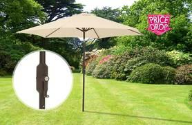 £28 instead of £93 for a 2.7m steel garden parasol with crank and tilt - save 70%