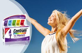 £5 instead of £12.99 for two-month supply* of Centrum for Women - save 62%