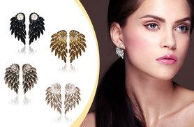 £6 instead of £34.99 (from Fakurma) for angel wing double stud earrings - choose from four colours and save 83%