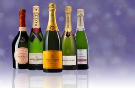 £19.99 for a mystery six-bottle Champagne, Prosecco, Cava or Spanish wine case - Moët, Laurent Perrier Rosé Champagne, Veuve Clicquot Yellow Label and more!