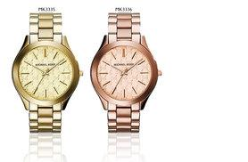 £119 instead of £182.01 for a MK3335 or MK3336 Michael Kors watch - choose from gold or rose gold colours and save 35%