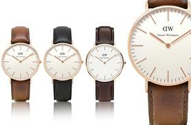 £65 instead of up to £159 (from Jacob Ekland) for a Daniel Wellington ladies' watch - choose from three fab designs and save up to 59%