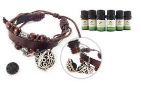 £12.99 instead of £49.98 (from Aroive) for an essential oil diffuser pendant necklace with six oils, £14.99 for a diffuser faux leather bracelet - save up to 74%