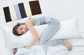 £11 instead of £39.99 (from E4Emporium) for a bolster support pillow and polycotton pillowcase - choose from six colours and save 72%