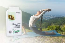 £6.99 instead of £24.99 (from Real Protein) for 90 flaxseed oil capsules - feel great and save 72%