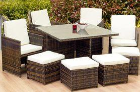 £469 instead of £1,329.01 (from OSeasons) for an eight-piece OSeasons cube rattan garden furniture set and table - save 65%