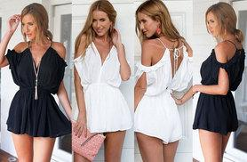 £8 instead of £44.99 (from EF Mall) for an open shoulder playsuit- save 82%