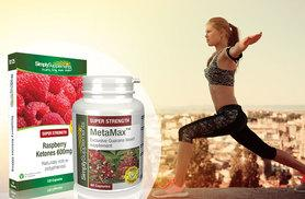 £12 instead of £21.89(from Simply Supplements) for a two-month supply* Raspberry Ketones and MetaMax™ capsules - save 45%!