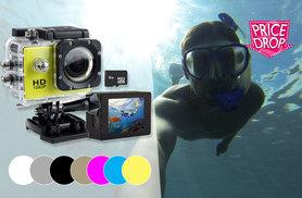 £15.99 instead of £89.99 (from Toy Meets World) for a 720p 'waterproof' HD action camera, from £19.99 for a 1080p camera - snap and save up to 81%