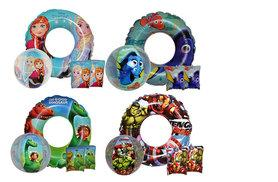 £5.99 instead of £17 for four-piece Disney-themed inflatable beach bundle for kids including two armbands, one ring and one beach ball  - save 65%