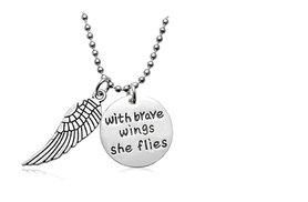 £5 instead of £27.01 (from India Rose Designs) for an engraved 'With Brave Wings She Flies' necklace - save 81%