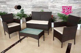 £89 instead of £599 (from Daniel James) for four-piece rattan garden furniture set
