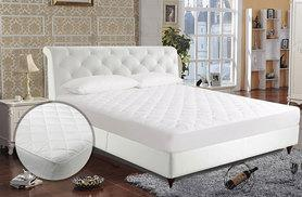 £5.99 (from E4Emporium) for a single mattress protector, £7.99 for a small double, £8.99 for a double, £9.99 for a king or £10.99 for a super king - save up to 70%