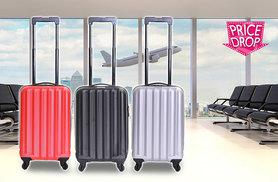 £14.99 (from Karabars) for a stylish hard-shell cabin approved suitcase - choose from three colours