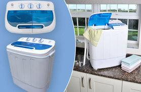 £99.99 instead of £197.99 (from Easy Life Group) for a compact semi-automatic twin tub washing machine – save space and energy and save 49%