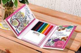 £4.99 instead of £9.99 for a colour therapy travel colouring kit - save 50%