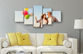 £24.99 instead of £79.99 (from Deco Matters) for a personalised five-panel canvas - save 69%