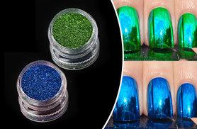 £4 instead of £19.99 (from Boni Caro) for a blue or green Magic Mirror nail powder or £7 for both colours - save up to 80%