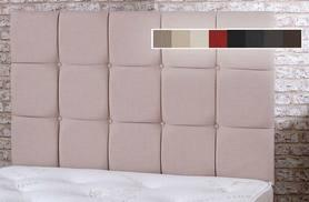 From £69 (from Cheap Mattresses) for a quilted high thread linen headboard - choose from eight colours and save up to 82%