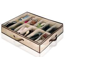 £1.99 instead of £9.99 (from Fusion Online) for an under bed shoe storage organiser - tell that clutter to shoo and save 80%