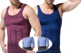 £9.99 instead of £79 (from Bonicaro) for a men's slimming vest - choose from blue or wine and save 87%