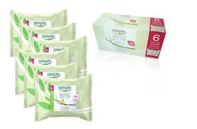 £12 instead of £18 (from Mr. Books Ltd) for six packs of Simple Kind To Skin cleansing facial wipes - save 33%