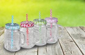 £8 instead of £26.01 (from Direct2Public) for six Mason jars with a handle, lid and straw - save 69%
