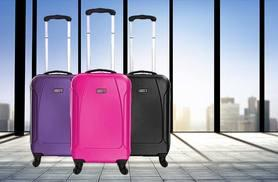 £17 (from Karabars) for a cabin-approved hardcase wheeled suitcase – choose from three colours