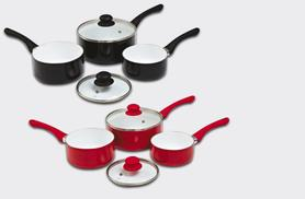 £19.99 instead of £59.99 (from Qudos Direct) for a five-piece saucepan set - save 67%