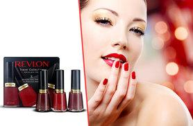 £10 instead of £16 (from Deals Direct) for a Revlon Flirtatious Reds nail enamel trio - save 38%