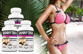 £17 instead of £56.97 (from Skinny Diva) for a six-week supply* of  'appetite suppressant' capsules - save 70%