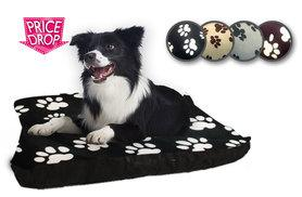 "£7.99 instead of £39.99 for a 27"" x 37"" fleece dog bed, £15.99 for a 37"" x 57"" bed - save up to 80%"