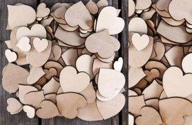 £2 instead of £15 (from Alvi's Fashion) for a pack of 50 plywood hearts, £4 for 100 hearts - save up to 87%