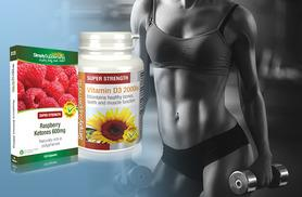 £9 (from Simply Supplements) for a 'slim and sun' bundle - 2* month supply of raspberry ketones, 4** month supply of vitamin D3 capsules - save 47%