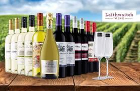£39 (from Laithwaite's) for a 12-bottle selection of exclusive boutique wine including two Champagne flutes - choose from three varieties and save up to 68%