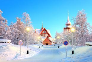 From £299pp for a two-night Lapland stay with flights, from £399pp for three nights, from £499pp for five nights, or seven nights from £579pp - save up to 34%