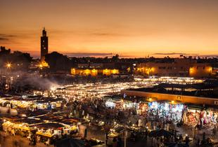 From £69pp (from ClearSky Holidays) for a two-night Marrakech break with flights and breakfast, from £99pp for three nights, from £109pp for four nights - save up to 40%