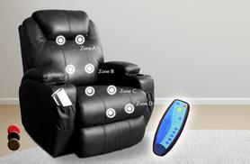 £189.99 instead of £400 (from Tiny Home Store) for a luxury leather reclining massage chair with 2 cup holders - save 53%