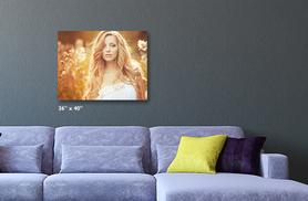 """£25.99 instead of £69.99 (from Great Photo Gifts) for a personalised 36""""x 40 canvas print - save 63%"""