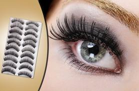 £8 instead of £99.90 (from SalonBoxed) for 20 pairs of reusable false eyelashes - save 92%