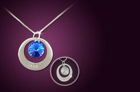 £10 instead of £50 (from Cian Jewels) for a double-sided engraved birthstone necklace - save 80%