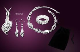 £15 instead of £200 (from Cian Jewels) for a 5-piece crystal jewellery gift set - choose from 5 designs & save 92%